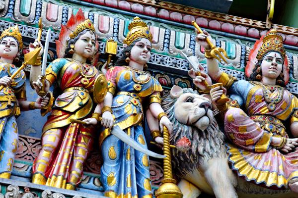 statua del tempio indu