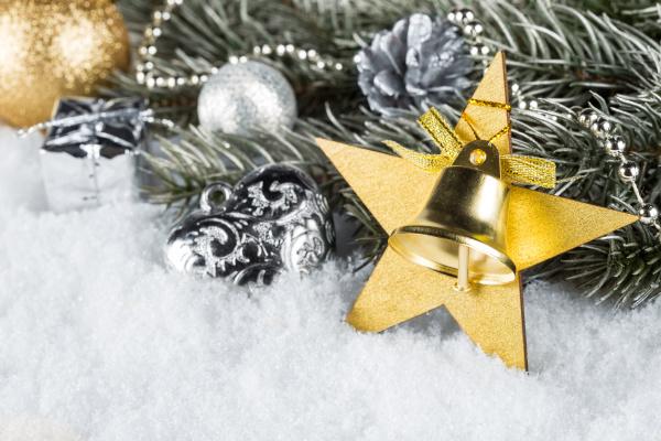 argento deco neve stella stella di