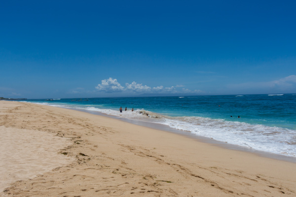 bellissima spiaggia sabbiosa appartata nei caraibi