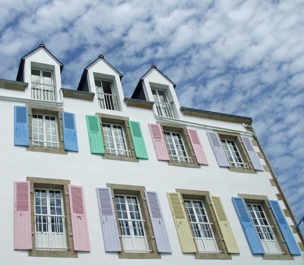 colore finestra colorato facciata stile di