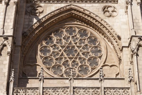 dettaglio finestra cattedrale stile di costruzione