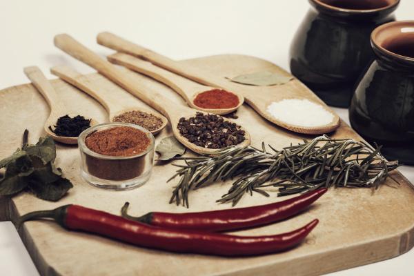 varie, spezie, sui, cucchiai, da, cucina - 16117919