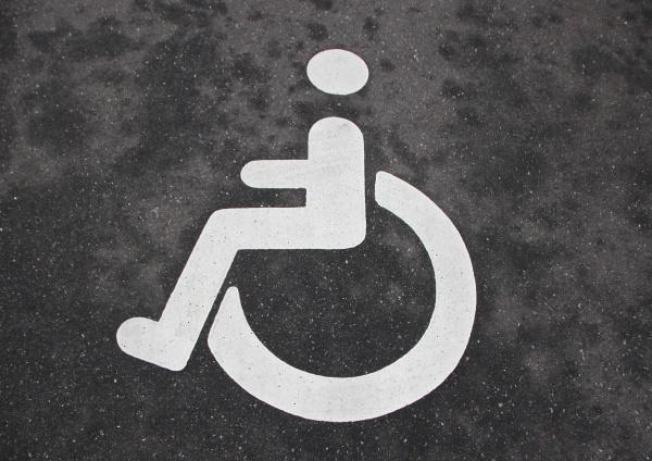 segnale sedia a rotelle rilasciato spazio
