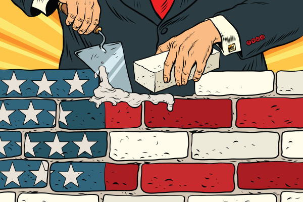 politico per costruire un muro al