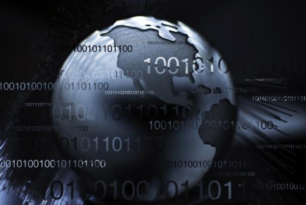 globo con fibre ottiche e numeri