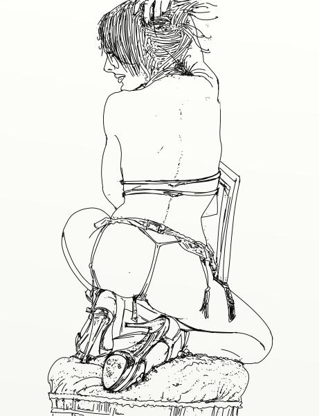 i ritratti della linea erotica