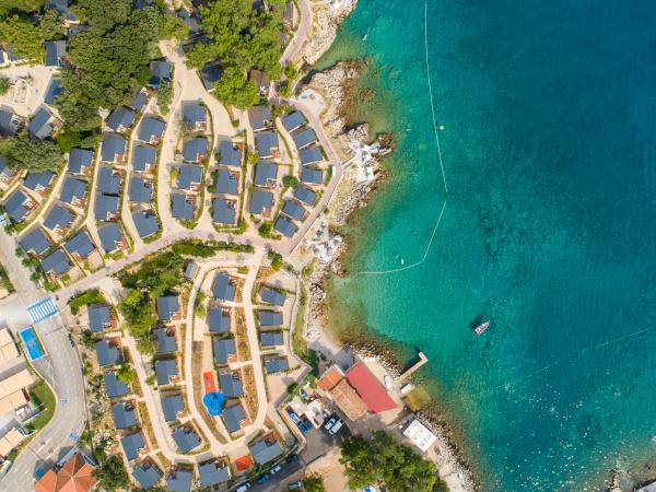 vista aerea del campeggio di lusso