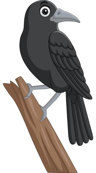 corvo dei cartoni animati in piedi