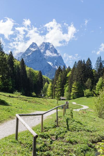 panorama, delle, alpi, garmisch-partenkirchen, baviera, germania - 27993440