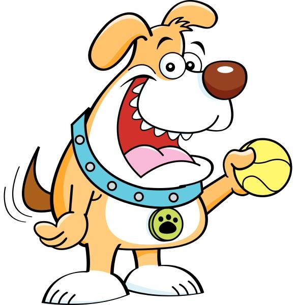 illustrazione, a, cartone, animato, di, cane - 28215670