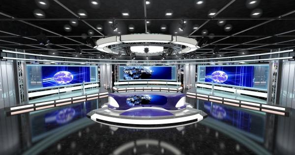 virtual, tv, studio, news, set, 1 - 28215713