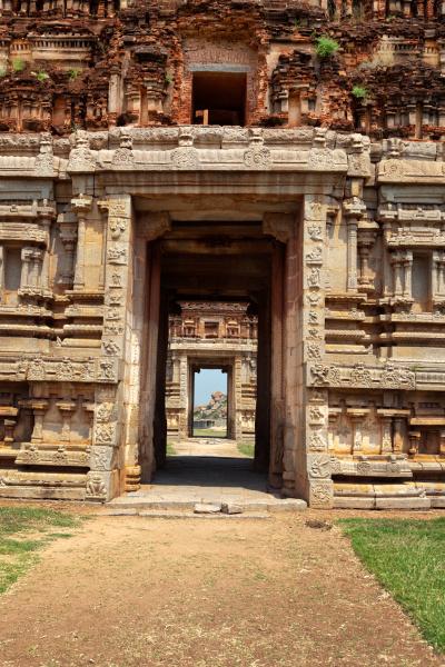 cancello, in, gopuram., rovine, a, hampi, karnataka, india - 28409983