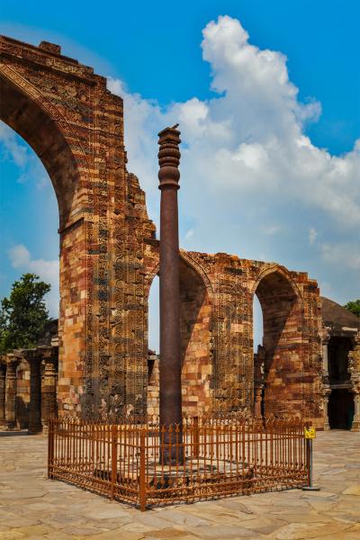 pilastro di ferro nel complesso qutub