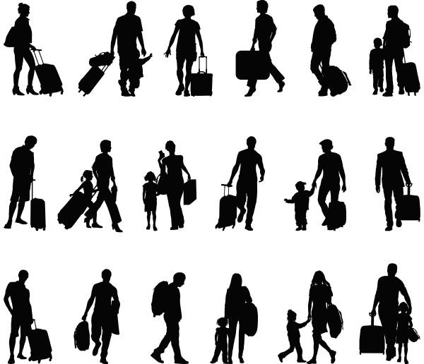 persone turisti viaggiatori migranti