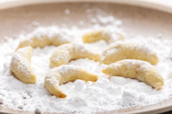 natura morta di biscotti alla vaniglia