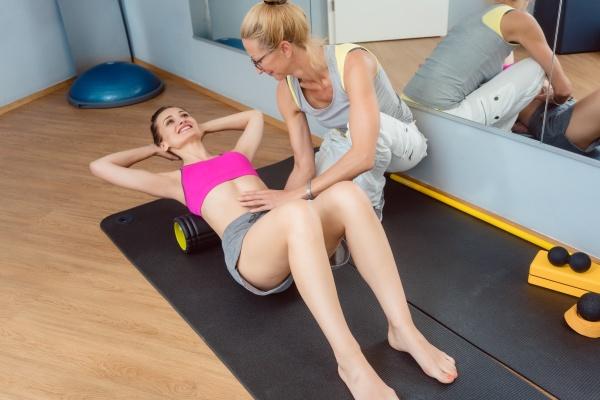 allenamento fasciale sulla schiena durante la
