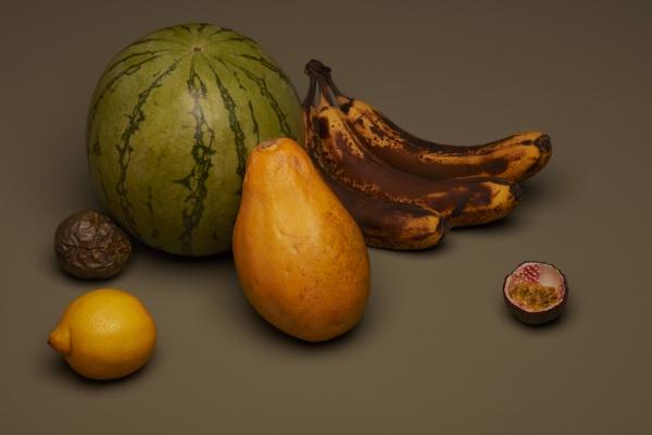 natura morta di frutta con banane