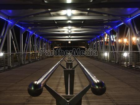 blu legno ponte notte fotografia notturna