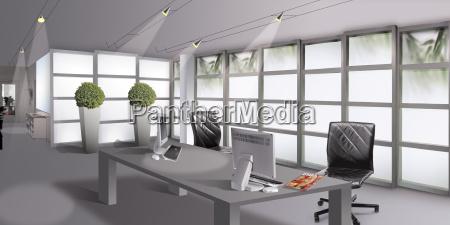 ufficio moderno tempo