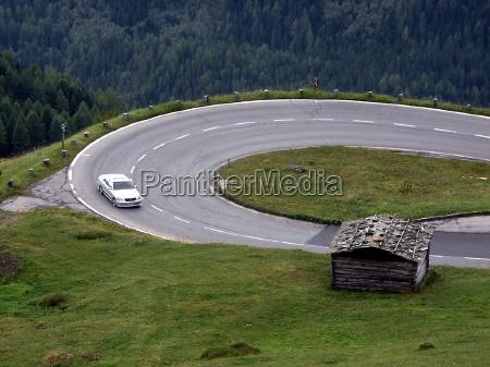 guidare montagne alpi austria auto veicolo