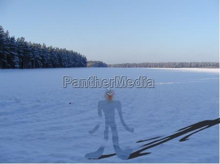 inverno freddo campo distanza larghezza estensione