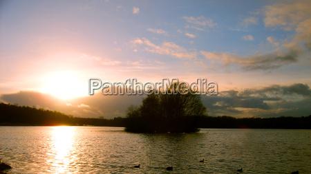 inverno tramonto quiete silenzio tranquillita amburgo