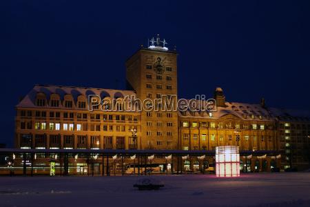 inverno fotografia notturna europa sassonia leipzig