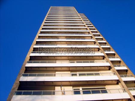 blu dettaglio casa grattacielo costruzione edificio