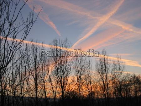 tramonto linee sentire sera cielo crepuscolo