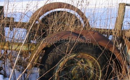 agricoltura veicolo ruggine rottame garza spazzatura