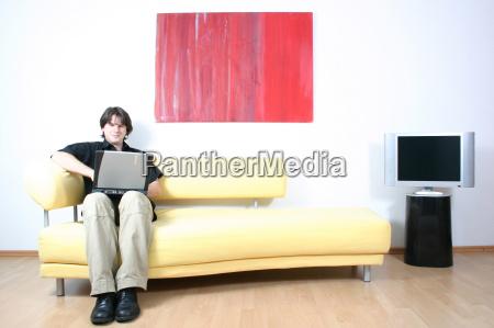 portatile computer casa in casa tempo