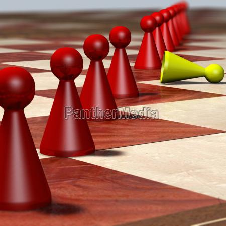 gioco giocato giocare fila corporatura rovesciato