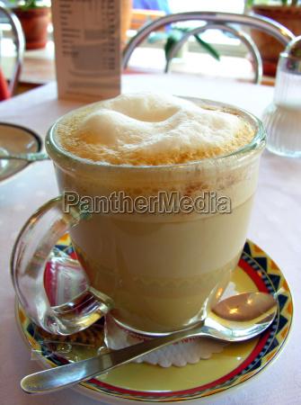 caffe bicchiere bere gustare caldo latte