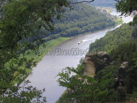 sassonia elba bastione fiume acqua flussverlauf