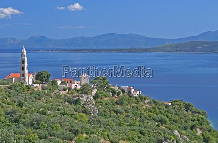 citta costa mediterraneo adriatico croazia cartolina