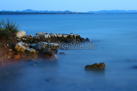 blu riva del mare spiaggia crepuscolo