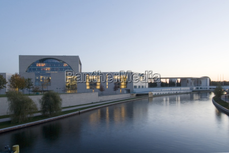 chancellery at dusk