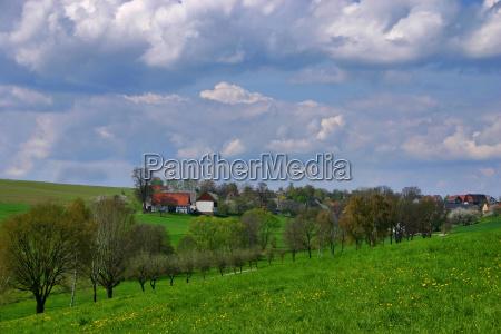 case rurale albero alberi quiete silenzio