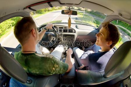 guidare luce soleggiato figlio auto veicolo