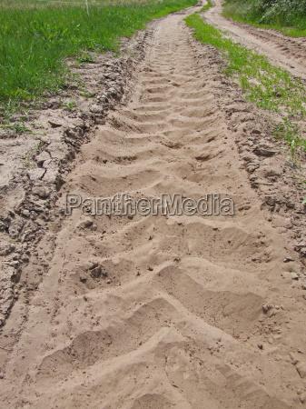verde strada sterrata campo sentire modello