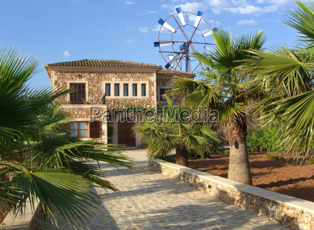 casa costruzione giardino maiorca palma cortile