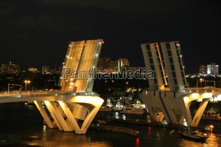 ponte, levatoio, di, notte - 732084