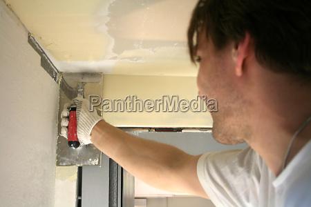 drywall installers when spackling