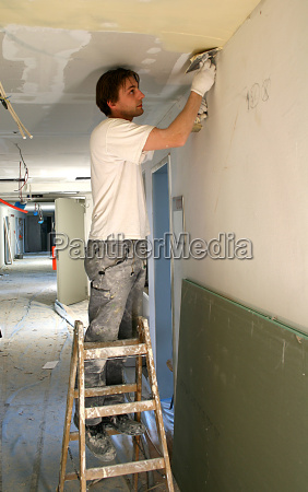 drywall installers when filling the ceiling