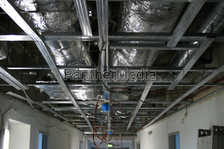unfinished ceiling