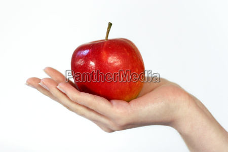 apple in mano