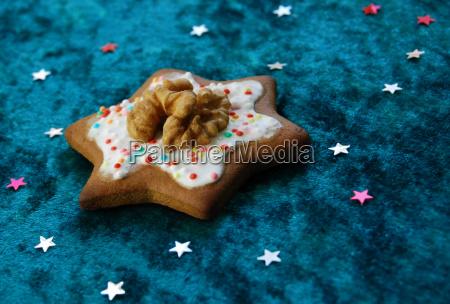 blu dolce colorato avvento biscotto delizioso