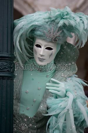 colorato venezia carnevale costume rivestimento italia