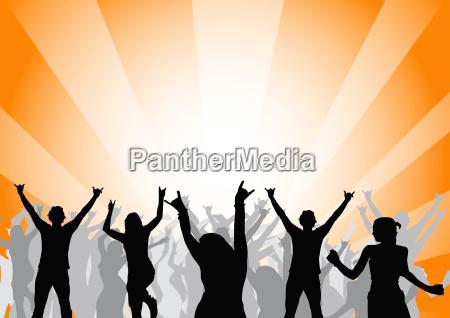 musica illustrazione festa vettore danza