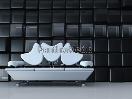 arredamento moderno interno divano alla moda